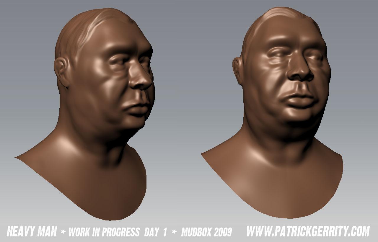 Mudbox model of big character.