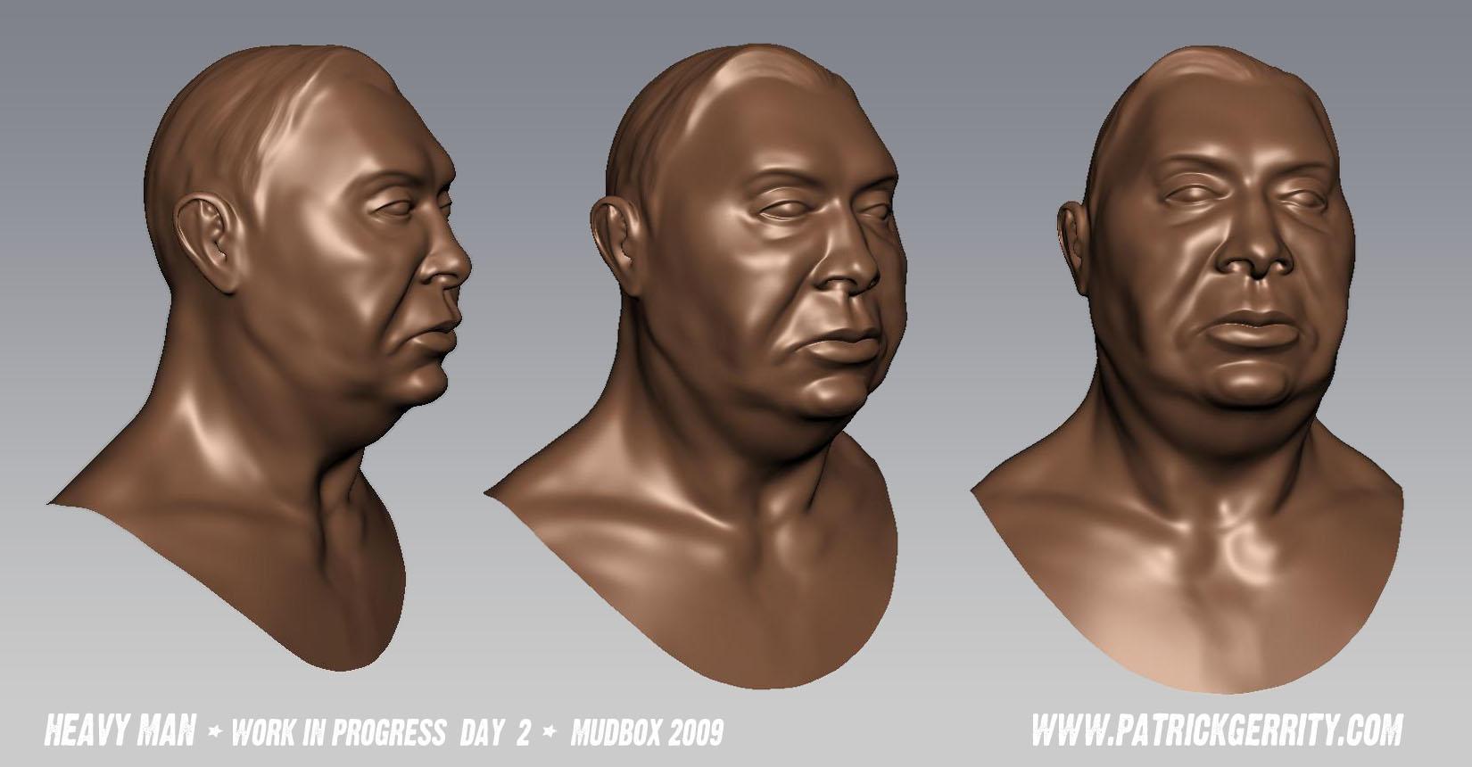 Mudbox Head Model Day 2