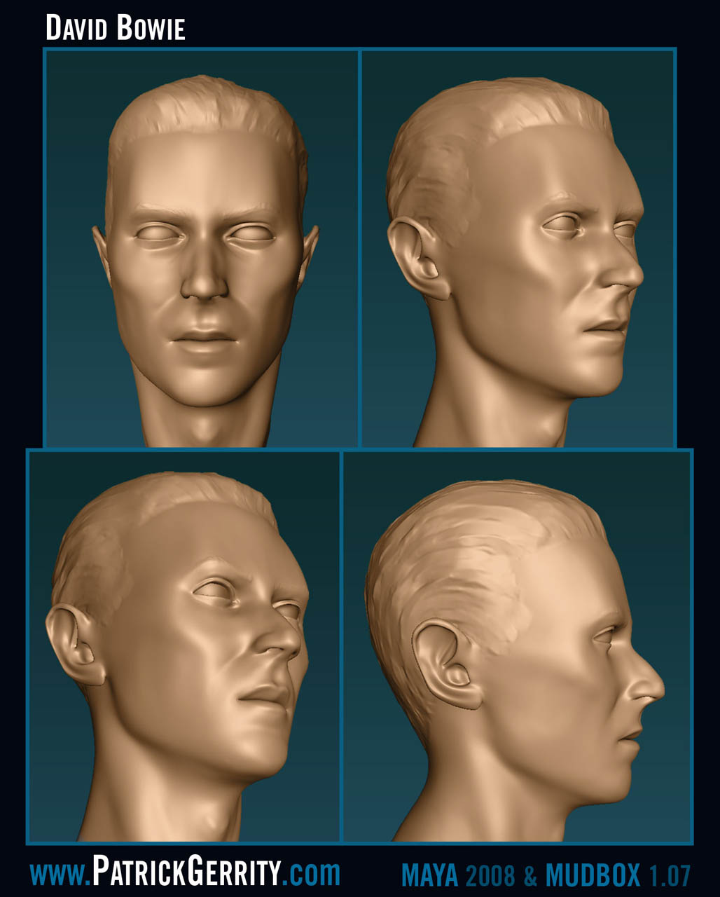 David Bowie modeled in 3D