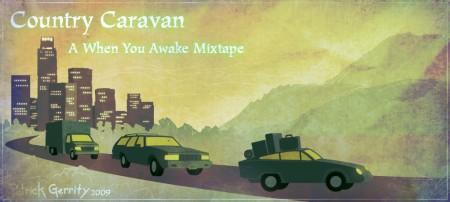 Country Caravan - Digital illustration.