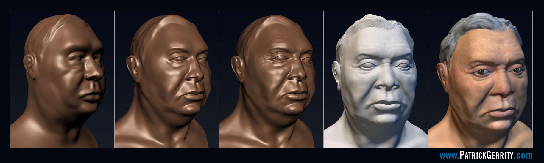 Mudbox Head Progression